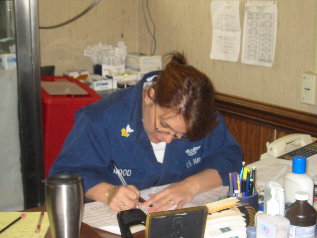 Me working hard at my desk at HM-14