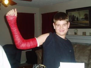The Hunter with a broken arm 2007.