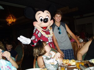 Joe Cool with Mickey Mouse 2010.