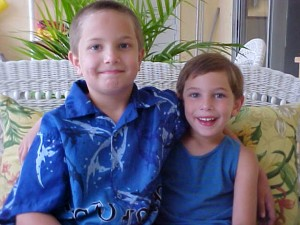 Joe Cool and The Genius when they were 6 and 4