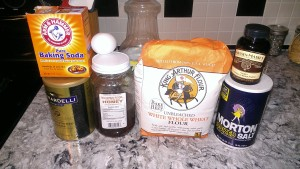 Ingredients (note Jillian does not endorse these products, they are what I had in my pantry)