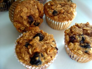 blueberry applesauce muffins