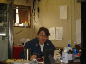 Me at my desk at HM-14.