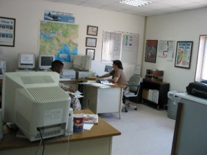 Me at my desk on Detachment in Bahrain 2003
