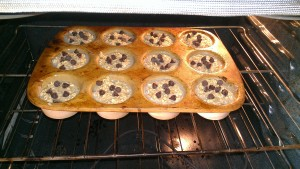 Pour into muffin cups and bake