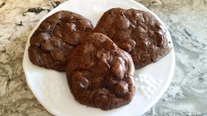 Chewy Flourless Chocolate cookies!