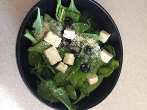 The salad my friend made with the arugula
